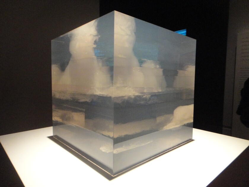 """""""Cloud Box,"""" 1966, by Peter Alexander, was on view in the 2011 exhibition """"Pacific Standard Time: Crosscurrents in L.A. Painting and Sculpture, 1950-1970"""" at the Getty Museum."""