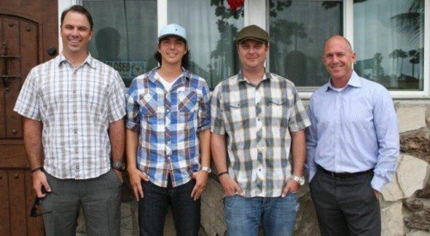 Matt Weaver, Mike Garcia, Brett Weaver and Tom van Betten hope to open the new Saddle Bar by Memorial Day. Photo: Karen Billing