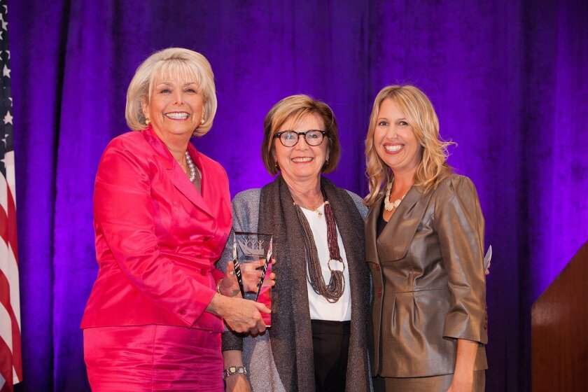 Lynn Schenk, Justice Judith McConnell and CWL President Wendy Behan. Melissa Jacobs.