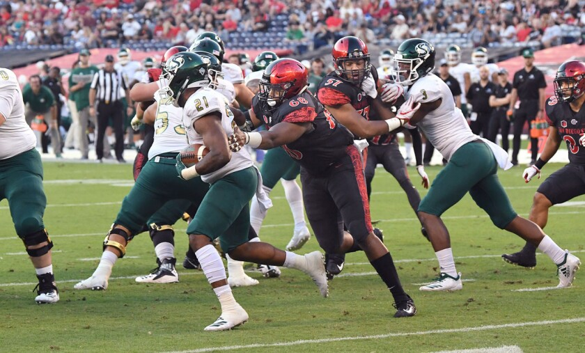 Myles Cheatum, the only senior on San Diego State's defensive line, is intent on making quarterbacks uncomfortable this season.