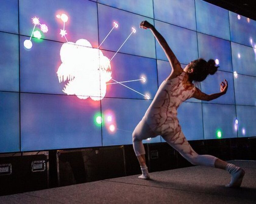 The Qualcomm Institute featured dancers during its open house on Friday.