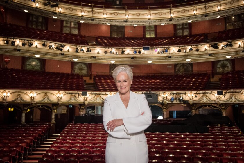 """Glenn Close poses for photographers during a photo call for the musical """"Sunset Boulevard"""" in London, Monday, Nov. 2, 2015. (Photo by Vianney Le Caer/Invision/AP)"""