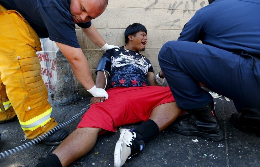 Patient on skid row