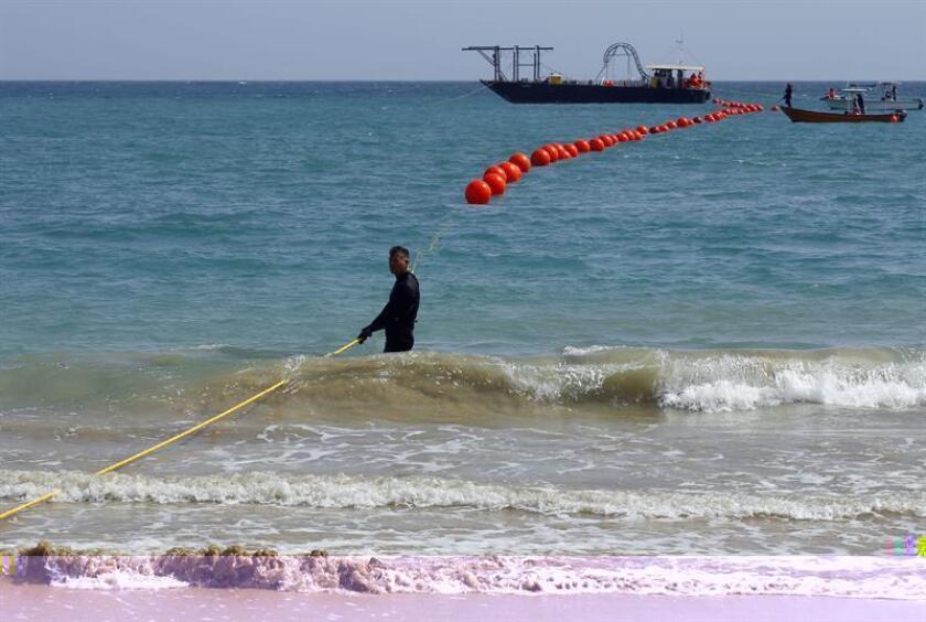 El Servicio Nacional de Meteorología (SNM) en San Juan extendió hasta el próximo viernes el aviso de alta marejada en la costa norte y noroeste de Puerto Rico debido al fuerte oleaje que puede provocar olas de hasta 18 pies (5 metros) de altura. EFE/ARCHIVO