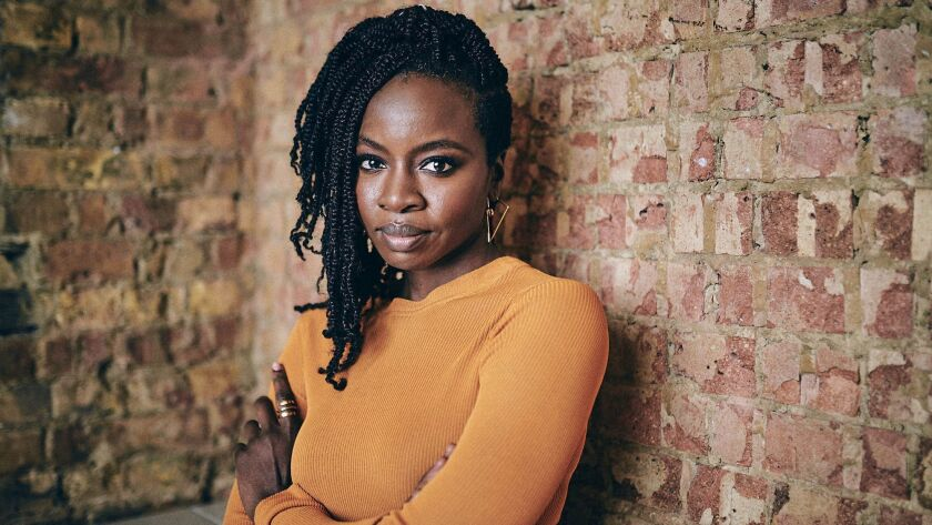 """Playwright Danai Gurira, photographed at the Young Vic Theatre in London, where """"The Convert"""" is running."""