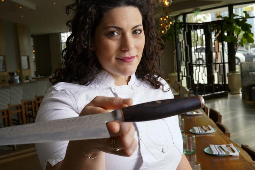 Giselle Wellman, executive chef of Pacific Standard Coastal Kitchen in Little Italy. (Nelvin C. Cepeda/ Union-Tribune)