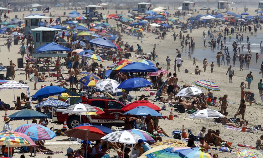 Huntington Beach police reportedly made 102 arrests during the recent nine-day Vans U.S. Open of Surfing, which draws more than 500,000 people annually to the south side of the pier.
