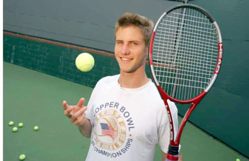Ryan Thacher, a top student who is ranked No. 1 in the nation in 18-under tennis, plans to break with a trend, going to college rather than trying to jump directly to the pro ranks.