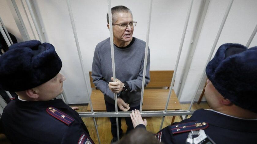 Russian Former Economic Development Minister Alexei Ulyukayev in bribery trail, Moscow, Russian Federation - 15 Dec 2017