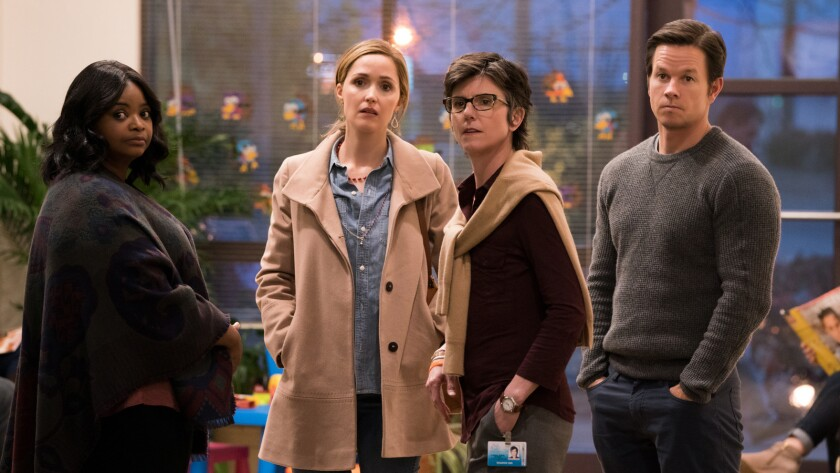 """(L-R) - Rose Byrne, Octavia Spencer, Tig Notaro and Mark Wahlberg in """"Instant Family"""" from Paramount"""