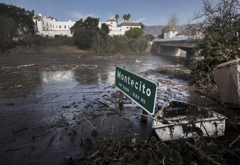 The Montecito city sign along the 101 Freeway.