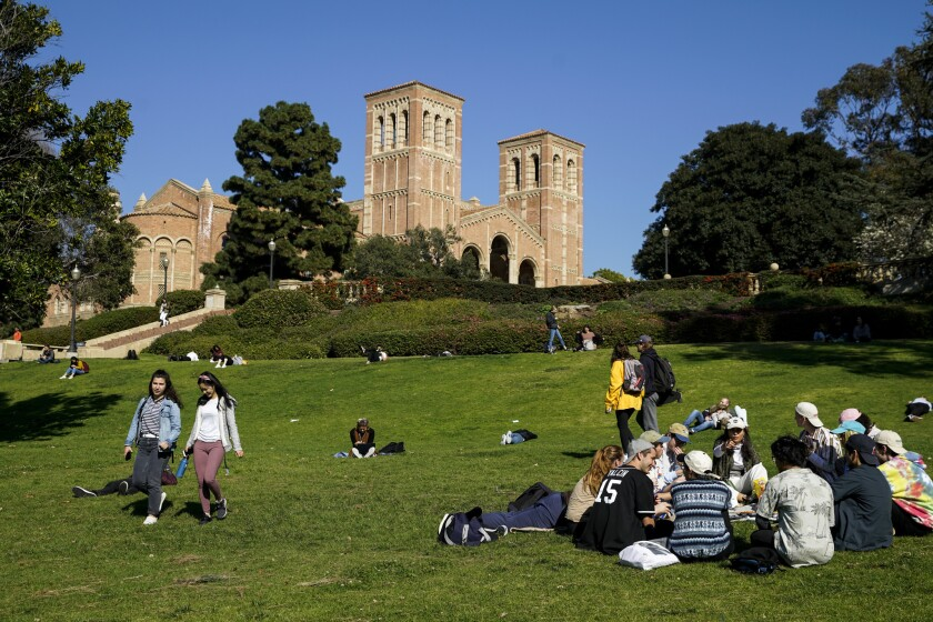The UCLA campus in Westwood is seen in 2019. Concerns over admissions drove much of the debate over affirmative action.