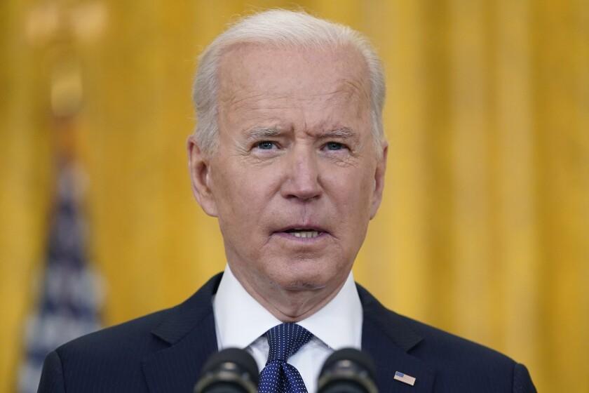 El presidente estadounidense Joe Biden da un mensaje sobre la economía del país,