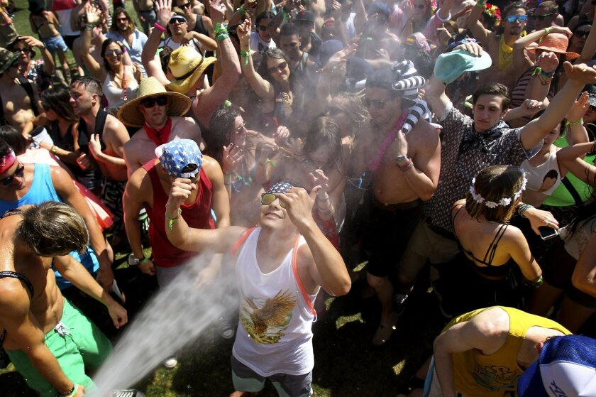 At the Do Lab, fans of Manic Focus get their groove on in the heat of day one at Coachella.
