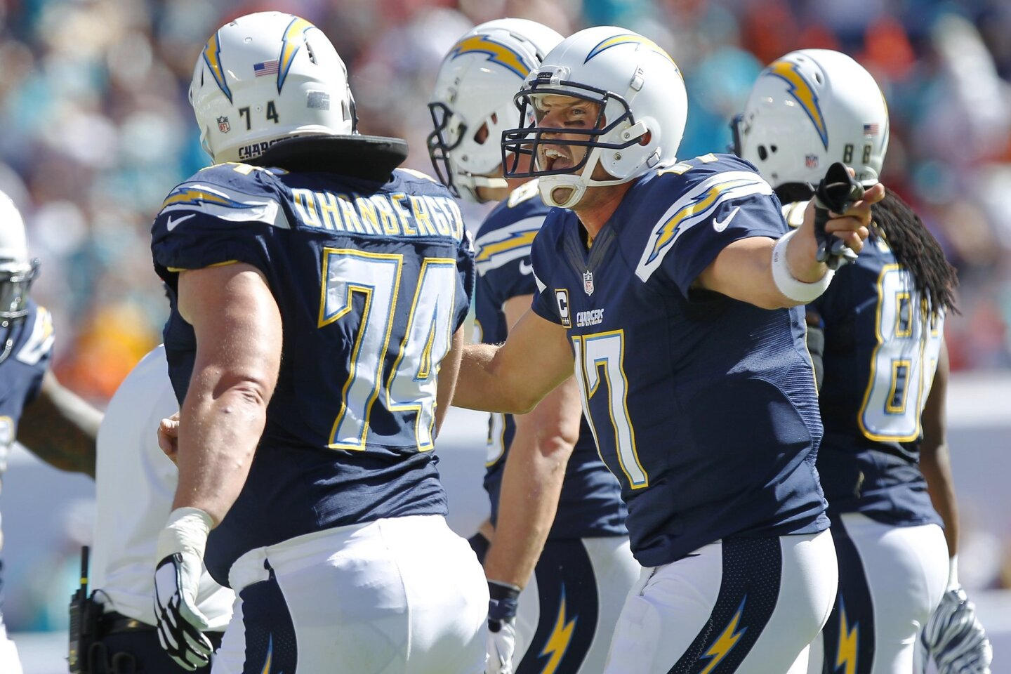 Chargers at Miami 2014