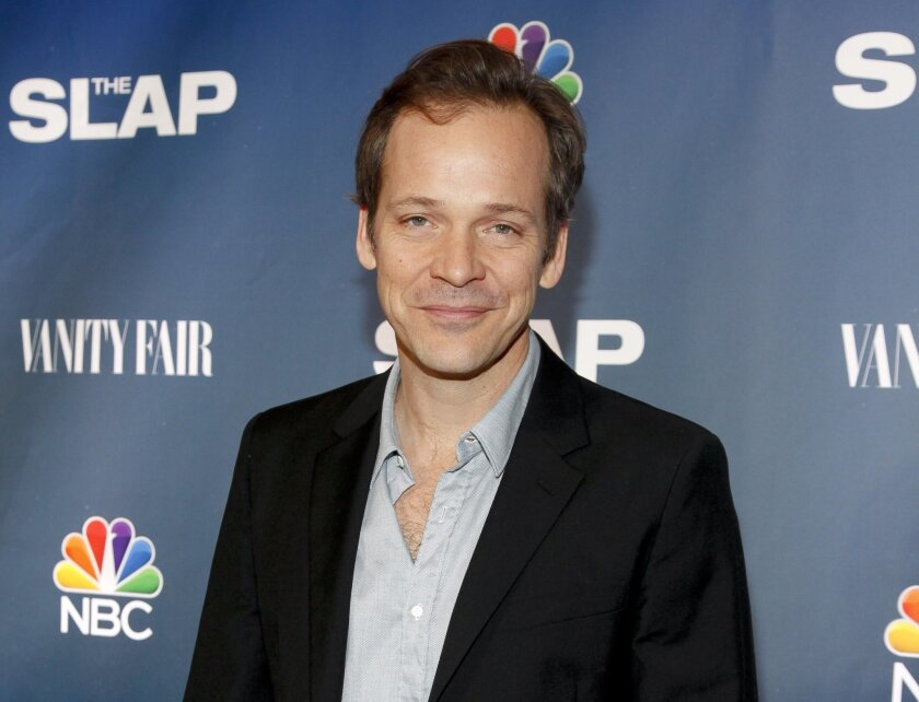 "FILE - In this Feb. 9, 2015 file photo, Peter Sarsgaard attends NBC's ""The Slap"" miniseries premiere party in New York. Sarsgaard stars in the title role of the Classic Stage Company production of William Shakespeare's ""Hamlet,"" opening April 15. (Photo by Andy Kropa/Invision/AP, File)"