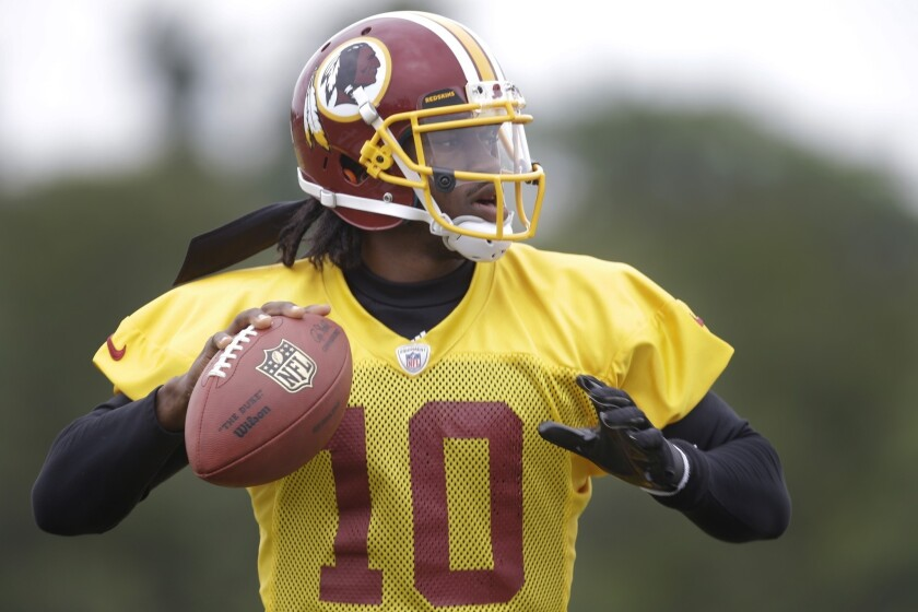 Mobile quarterbacks such as Washington Redskins play-caller Robert Griffin III, who underwent reconstructive knee surgery in the offseason, face a greater risk of injury.
