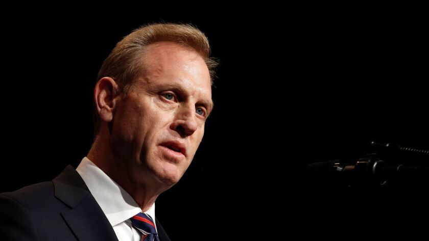 Acting U.S. Secretary of Defense Patrick Shanahan speaks Jan. 17 at the Pentagon.