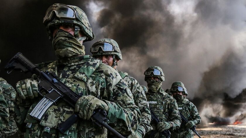 Soldiers burn cocaine and marijuana in south Mexico, Acapulco - 20 Sep 2018