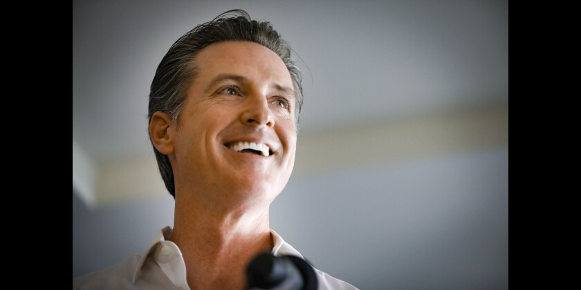 Gavin Newsom in San Diego