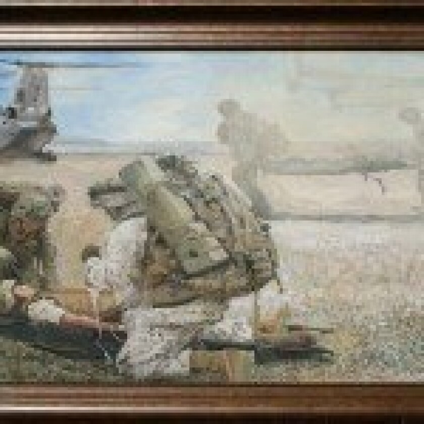 """ABC Studios """"Army Wives"""" military art titled """"Hidden Wings"""" by artist Todd Krasovetz."""