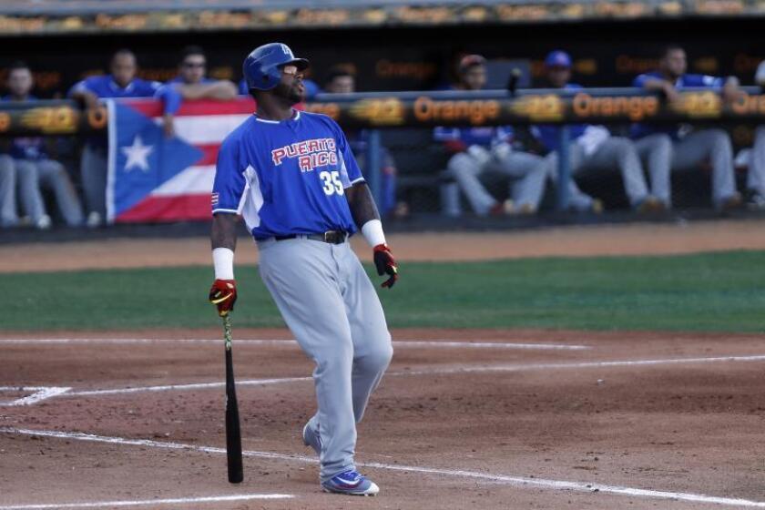 El bateador designado puertorriqueño Kennys Vargas. EFE/Archivo