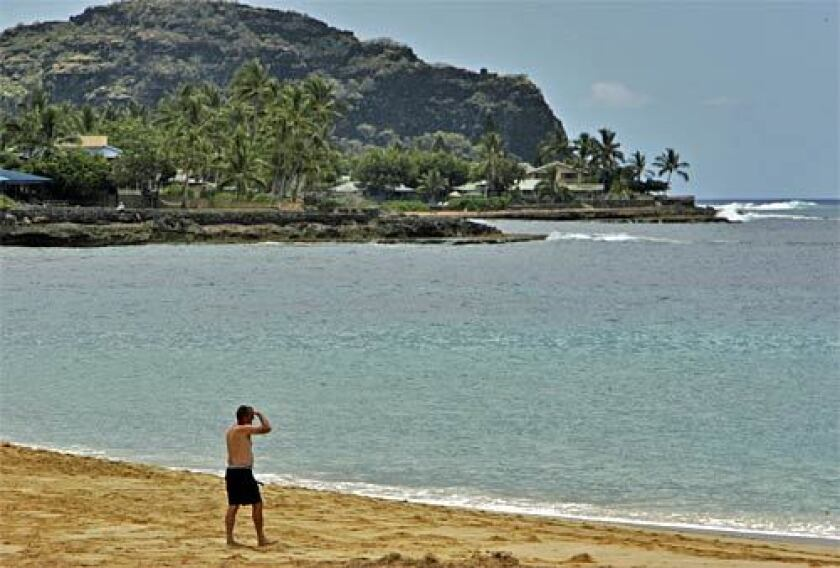 On the northwest coast of Oahu, Makaha Beach Park is one of the island's famed surf breaks.