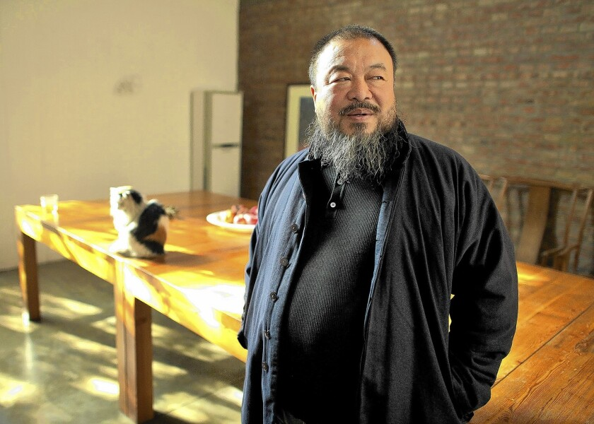 "Ai Weiwei, political provocateur and cultural critic, is the subject of Andreas Johnsen's documentary, ""Ai Weiwei: The Fake Case,"" now showing in L.A."