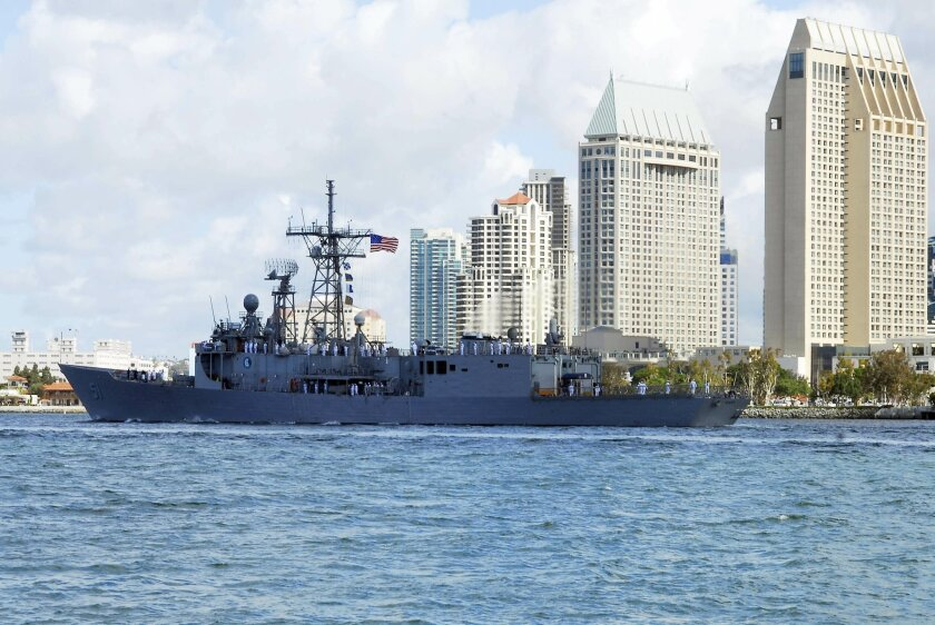 The Navy frigate Gary in San Diego