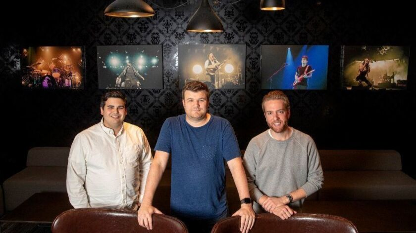 Jason Pratts, left, Max Roper and Kevin Anderson co-founded Appetize in 2011