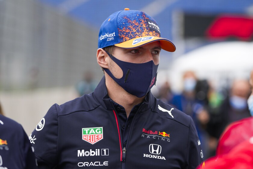 Red Bull driver Max Verstappen of the Netherlands arrives ahead of Sunday's Formula One Dutch Grand Prix at the Zandvoort racetrack, Netherlands, Thursday, Sept. 2, 2021. (AP Photo/Francisco Seco)