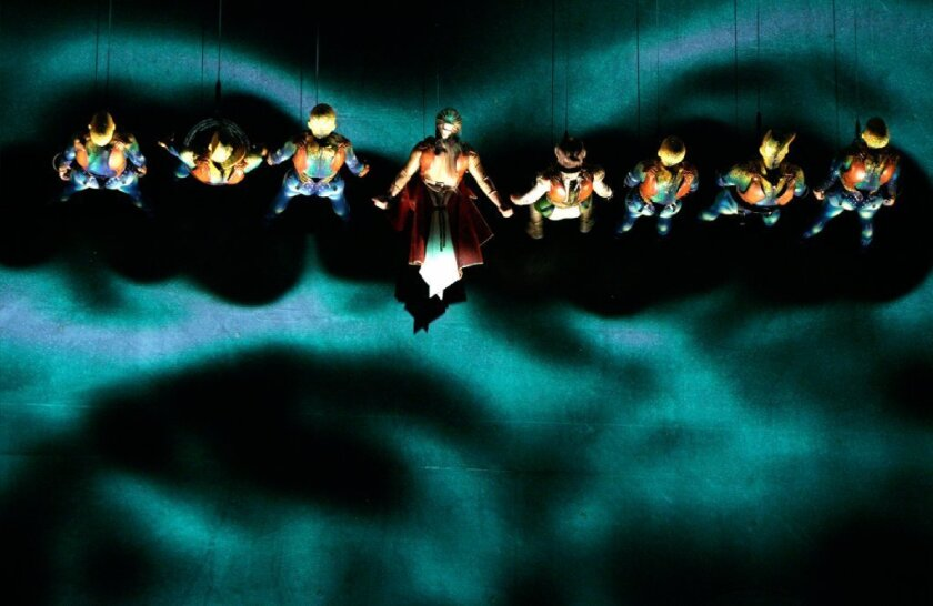 """A scene from Cirque du Soleil's """"Ka"""" at the MGM Grand Resort in Las Vegas."""