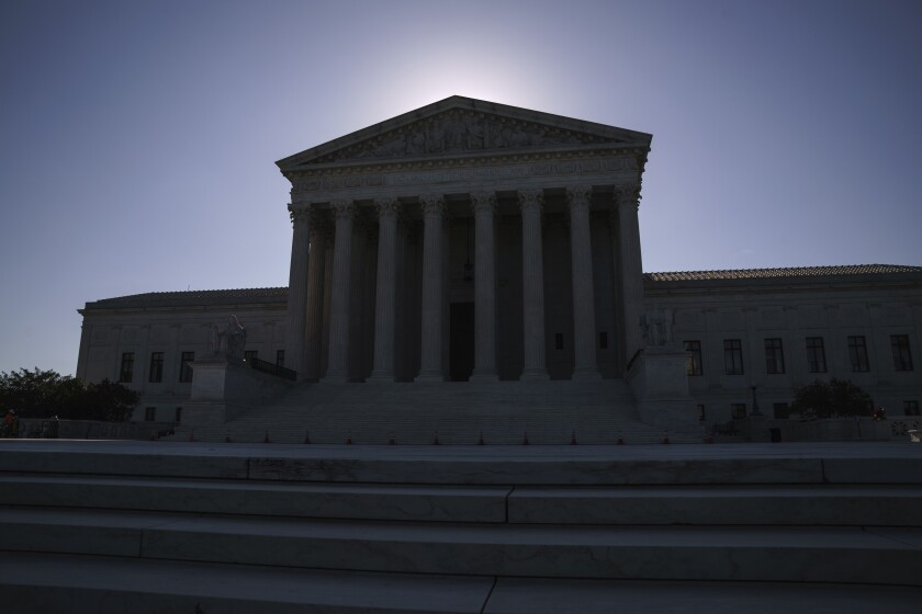 The U.S. Supreme Court on Capitol Hill in Washington.