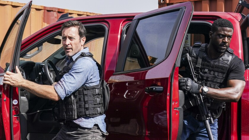 "Alex O'Loughlin, left, and Lance Gross in the series finale of the police drama ""Hawaii Five-0"" on CBS."