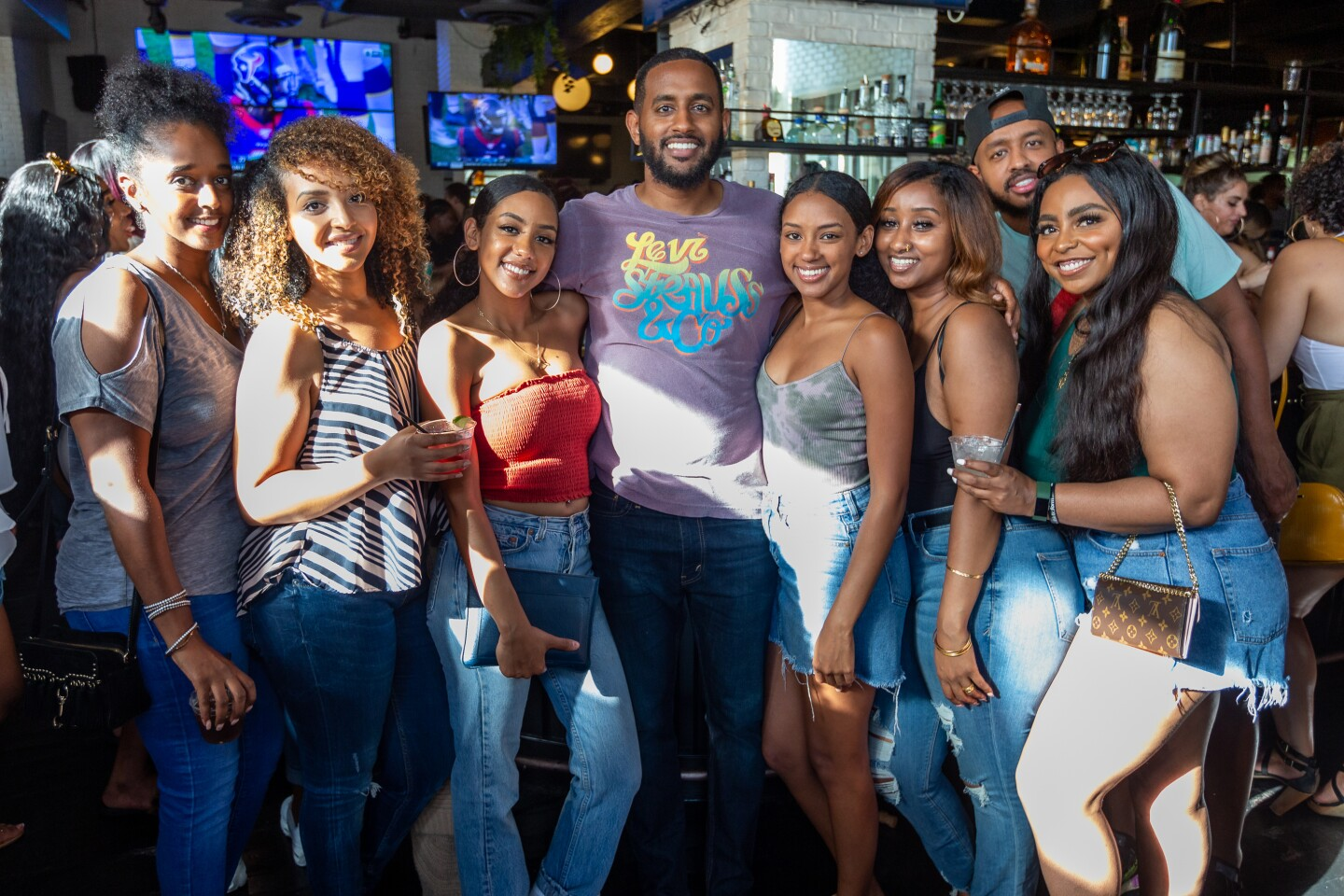 The bottomless mimosas flowed as a DJ spun tunes at Brunch is Life at The Owl Drug Co. in downtown San Diego on Sunday, Sept. 22, 2019.