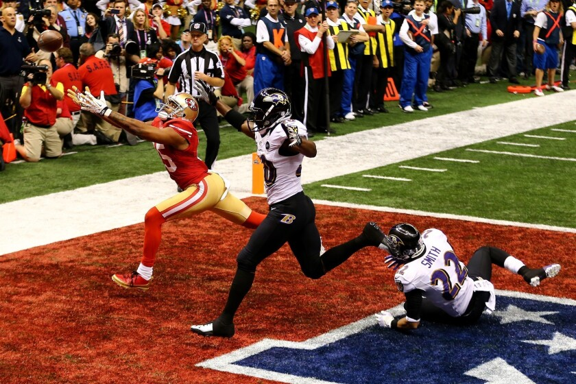 Did the Ravens win the Super Bowl on a bad call in the end zone?