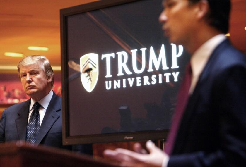 Donald Trump announces Trump University