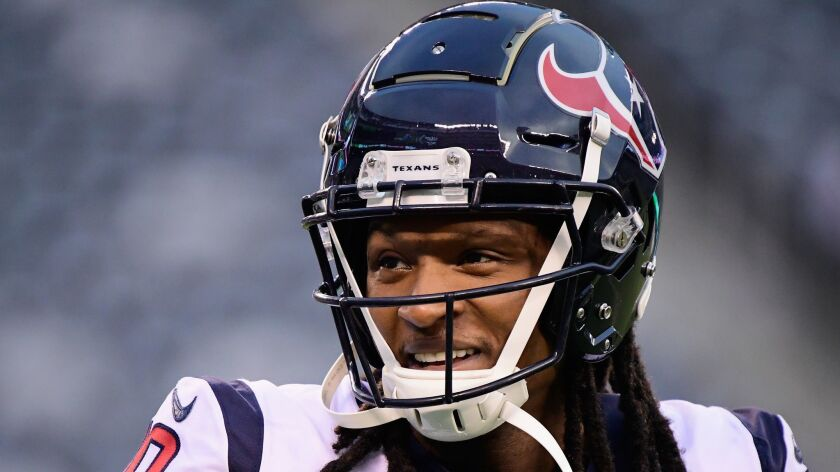 Texans receiver DeAndre Hopkins tweeted Thursday that he's donating his playoff paycheck from this weekend to help cover the costs of Jazmine Barnes' funeral.