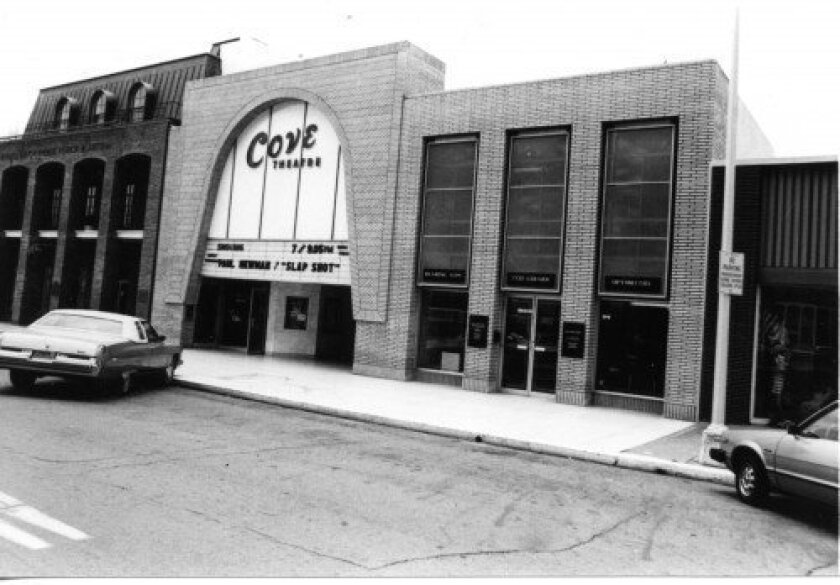 The Cove Theatre, which operated in La Jolla from the 1940s to 2003 on Girard Avenue. Courtesy La Jolla Historical Society