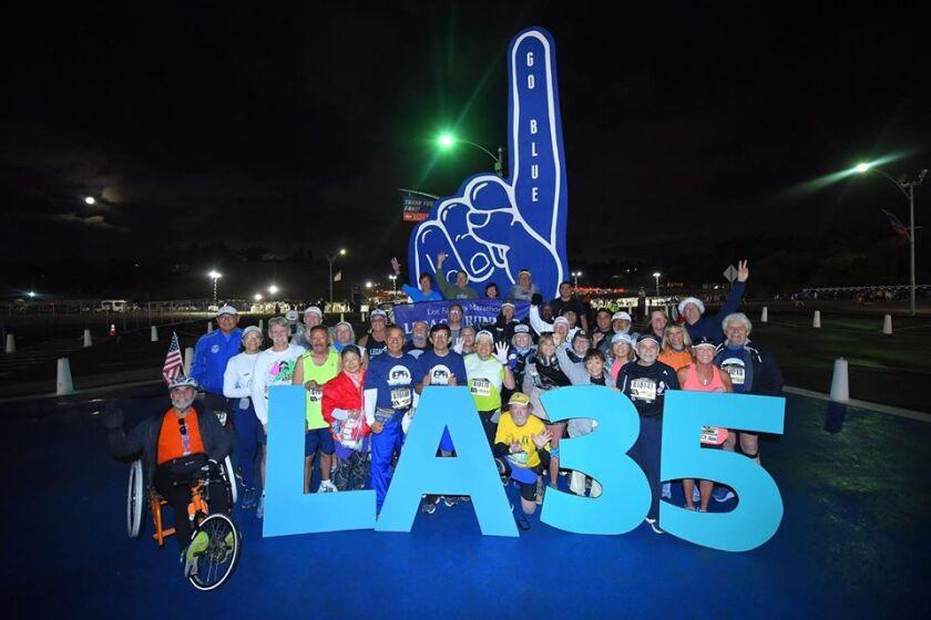 L.A. Marathon Legacy Runners at 35th Los Angeles Marathon.