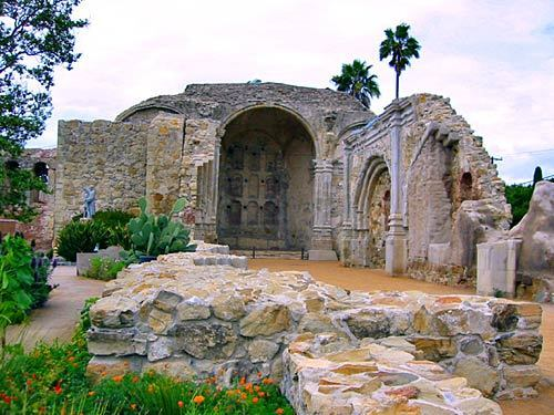 The ruins of the Great Stone Church at San Juan Capistrano Mission
