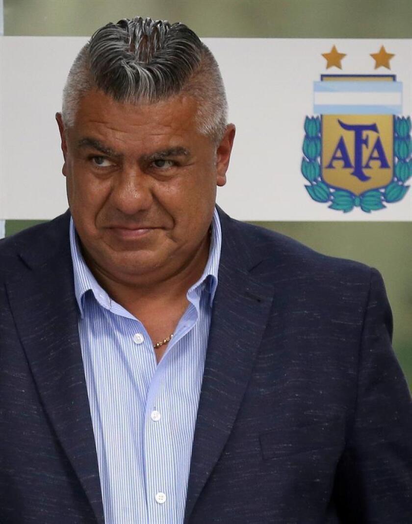 Imagen de archivo del presidente de la Asociación del Fútbol Argentino (AFA), Claudio 'Chiqui' Tapia. EFE/Archivo