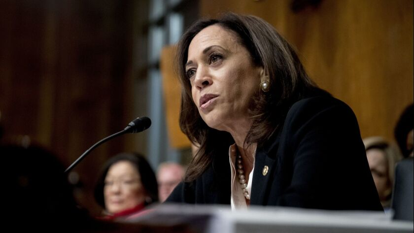 California Sen. Kamala Harris would enforce federal oversight on restrictive abortion laws states want to pass.