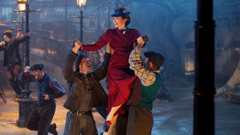 """Emily Blunt is Mary Poppins in Disney's """"Mary Poppins Returns,"""" a sequel to the 1964 classic film """"Mary Poppins."""""""