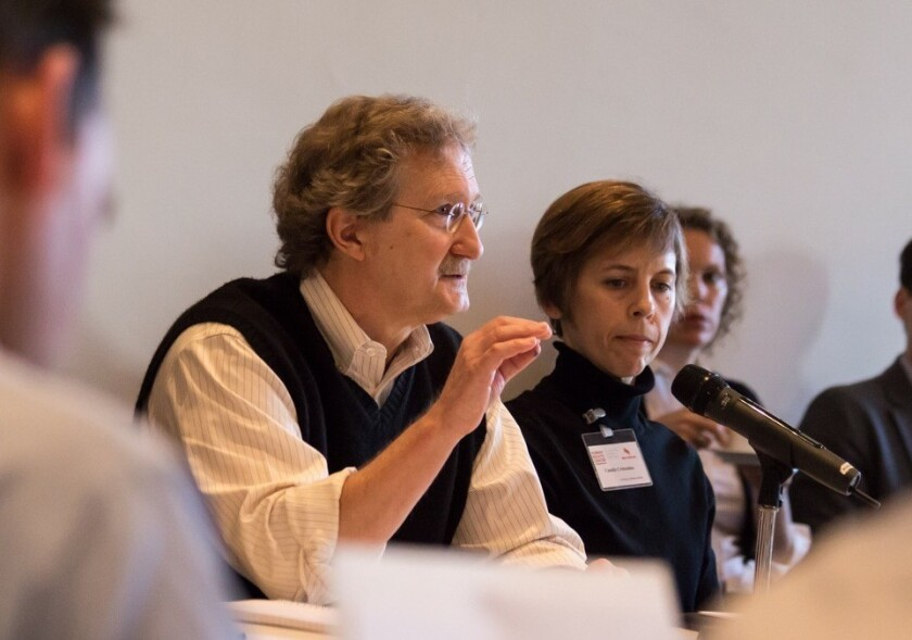 Eric Stover, faculty director of UC Berkeley law school's Human Rights Center, speaks at a Salzburg, Austria, meeting in 2013 about improving war crimes investigations.