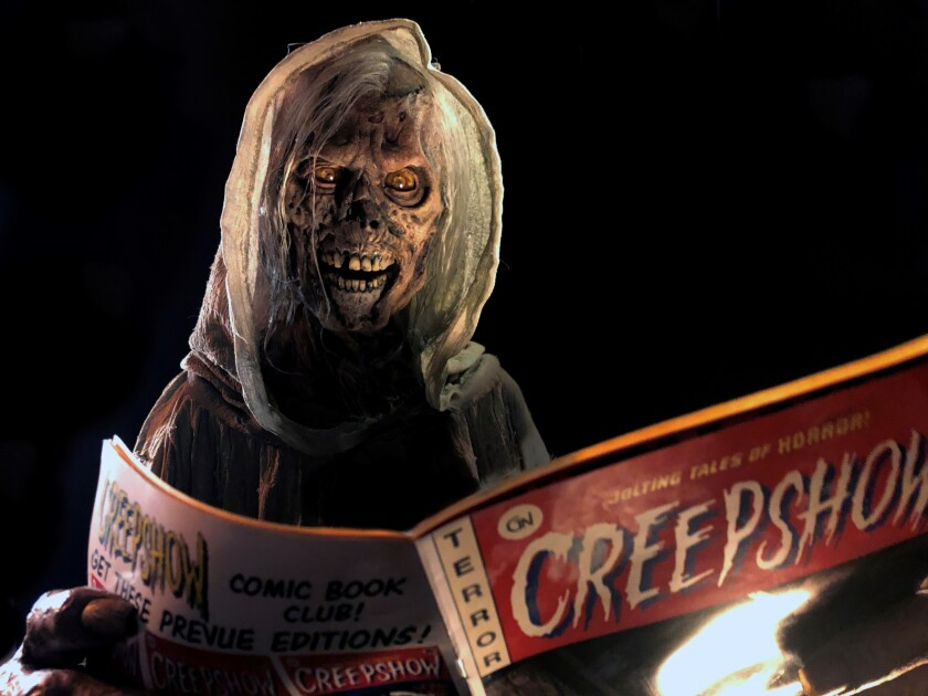 'Creepshow's' Creep holds a horror comic
