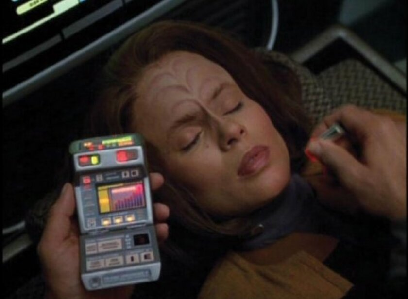 The medical tricorder has evolved in size and utility throughout the Star Trek series.