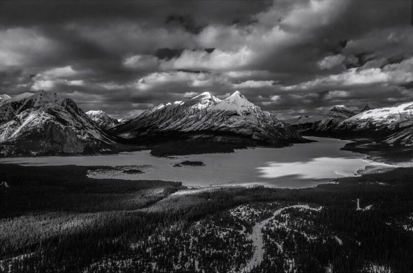 Spray Lake and the Rocky Mountains