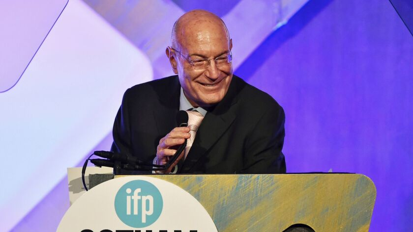 Producer Arnon Milchan accepts the Film Tribute Award at the 26th Annual Gotham Independent Film Awards on Nov. 28.