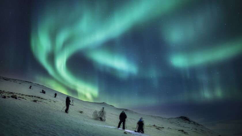 The northern lights are one of winter's phenomena best seen in the Arctic.